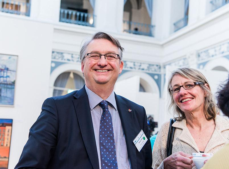 Stefan Endell und Hilke Maunder beim VDFG Jahrestreffen in Hamburg 2017