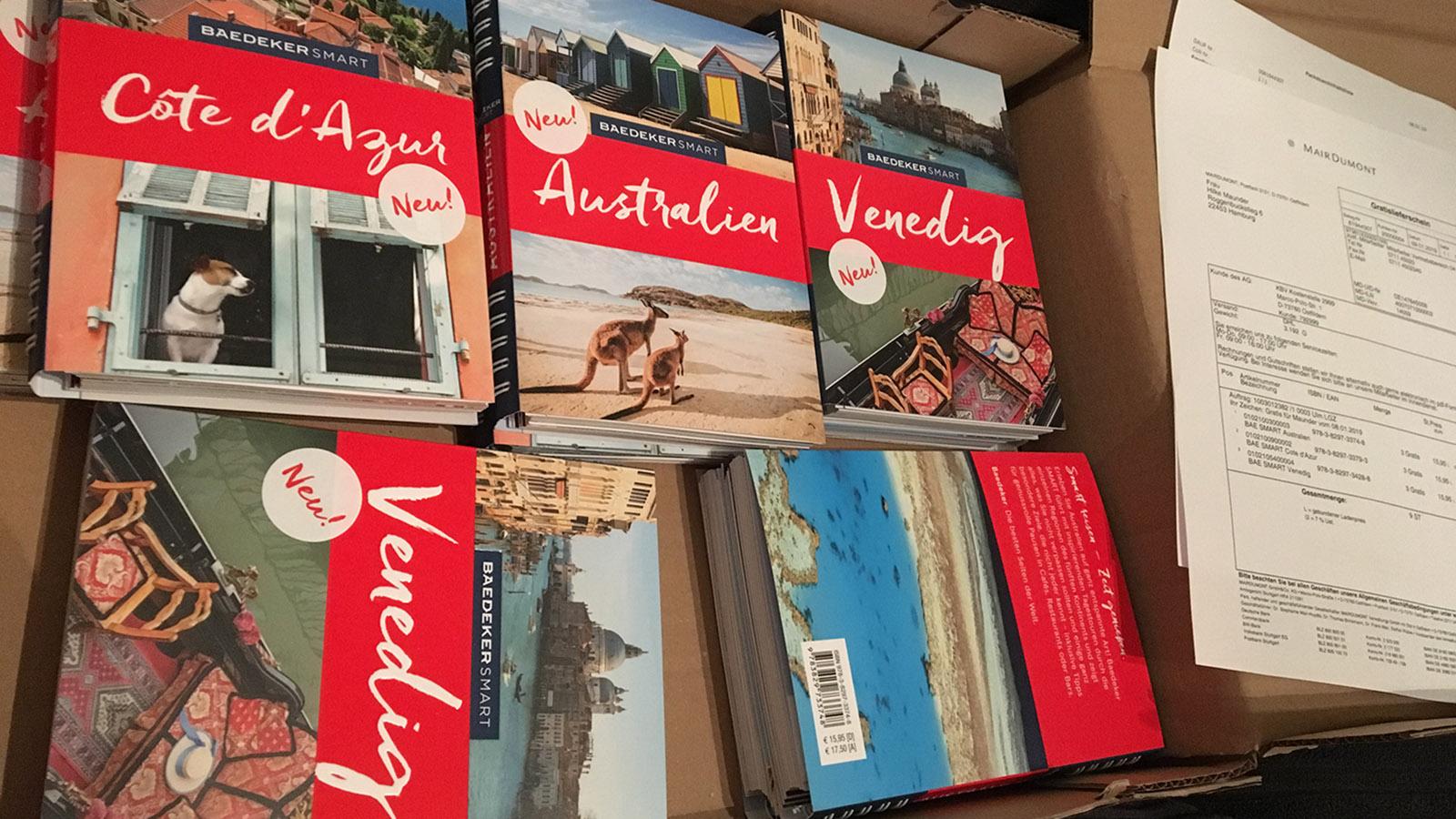 Meine Baedeker smart-Bände: allesamt 2018 getextet. Foto: Hilke Maunder