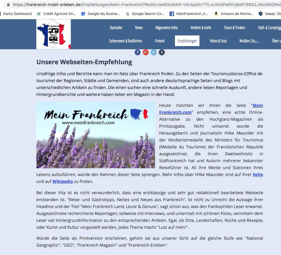 Claus Schöttle über Mein Frankreich