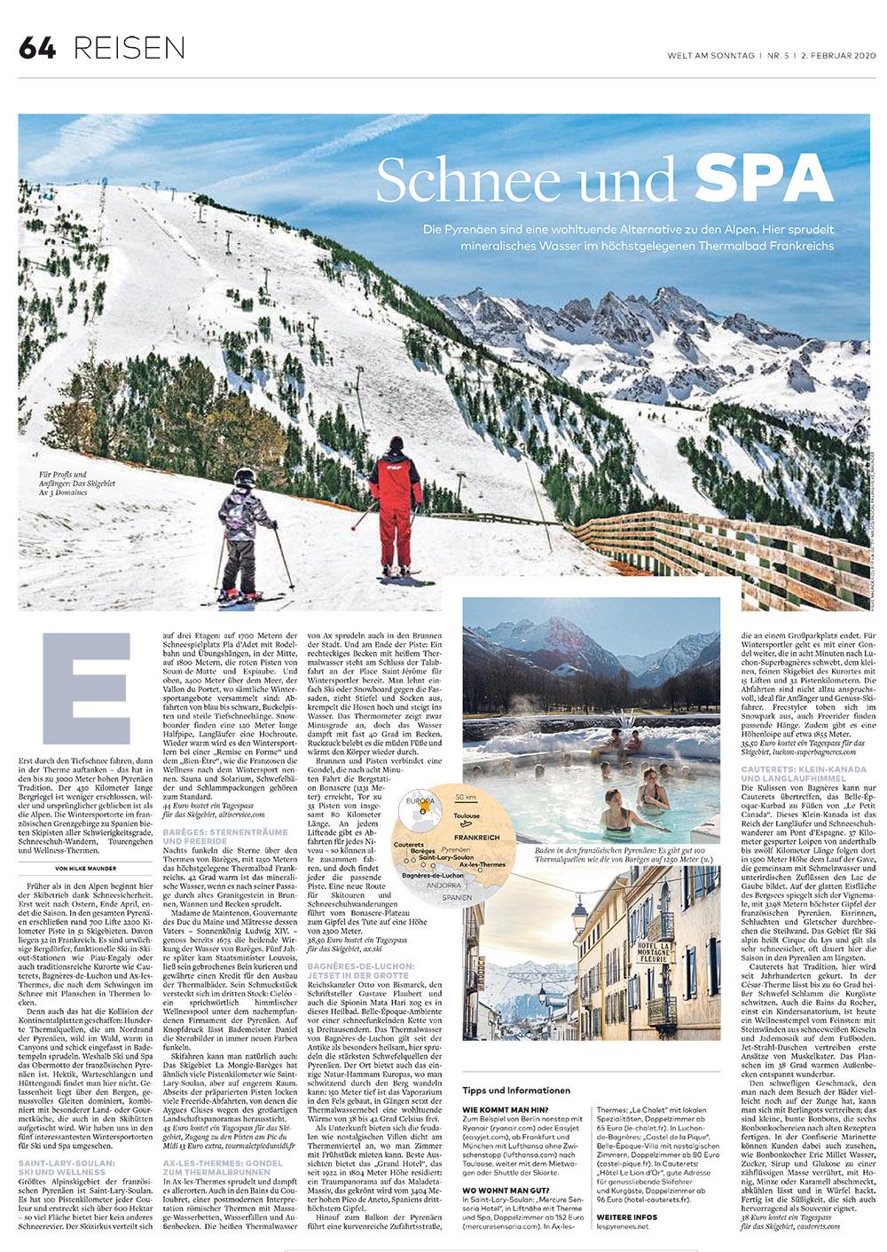Die Welt: Schnee und Spa