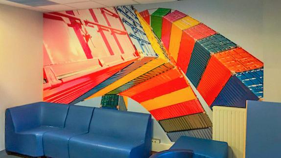 Wandbild für die Pädiatrie in der Klinik von Le Havre. Foto: Hilke Maunder